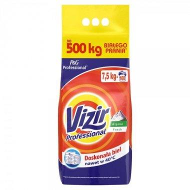 VIZIR PROFESSIONAL ALPINE FRESH PROSZEK DO PRANIA 7,5 KG, 100 PRAŃ