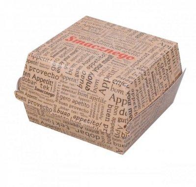 BURGERBOX XL , BURGER BOX, ROZMIAR XL , SMACZNEGO