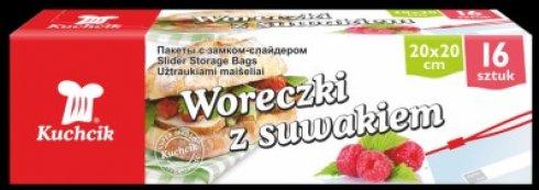 WORECZKI Z SUWAKIEM 16 SZT., 20X20 CM, BOX